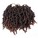 7 paquetes de extensiones de pelo de ganchillo sintético con trenzado de fibra de ganchillo rizado, rizado, trenzado, rizado, trenzado, trenzado