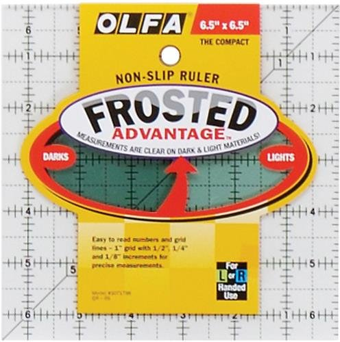 Olfa Frosted Advantage Non-Slip Ruler'The Compact'-6-1/2'X6-1/2'
