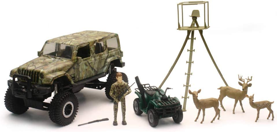 NEW New Ray Toys 1:18 Scale Camo Special price for a limited time Deer Jeep Wildlife Hunting Wrangler