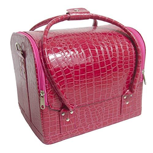 Doubleblack Grande Beauty Case Borsa Valigetta Make up Valigia Porta Trucchi Estetista Organizer Rigido Rosa