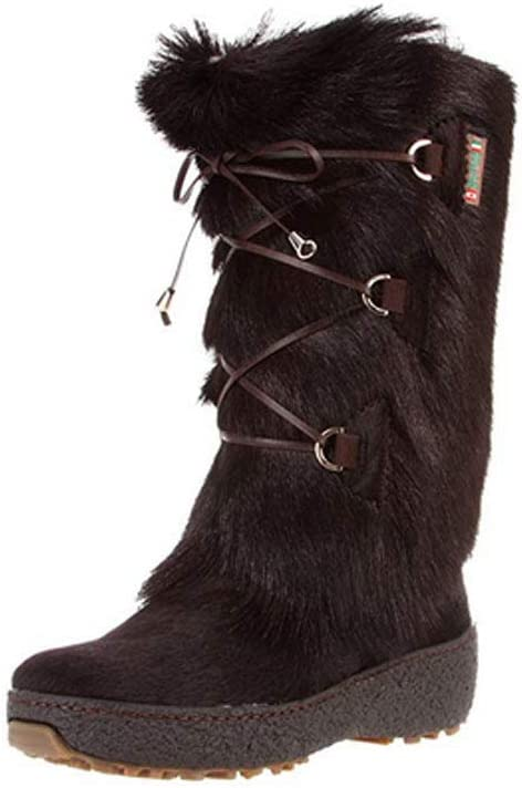 PAJAR Women's Davos Waterproof Fur Wool Lined All-Weather Boots, Brown, 9