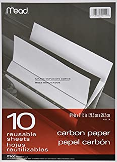 """Mead Carbon Paper, 8-1/2"""" x 11-1/2"""", 10 Sheets, Reusable (40114) (B000BQMW72) 