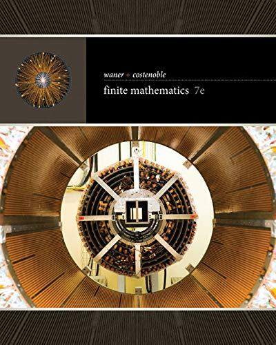 Compare Textbook Prices for Bundle: Finite Mathematics, 7th + WebAssign, Single-Term Printed Access Card 7 Edition ISBN 9781337604956 by Waner, Stefan,Costenoble, Steven