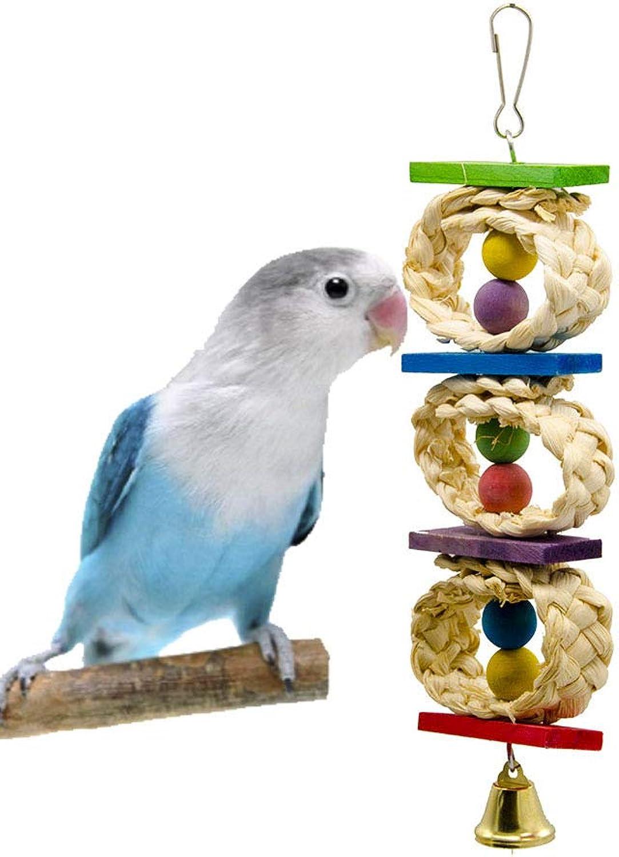 Pet Online Corn Peel Pet Toy Parred Supplies Bite Climbing Bird Toys, 6×25cm