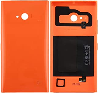 Battery case Jrc Solid Color NFC Battery Back Cover for Nokia Lumia 735 (Black) Mobile phone accessories (Color : Orange)