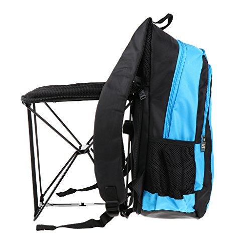 perfk Ultralight Outdoor Rucksack Wasserdicht Klappstuhl - Blau