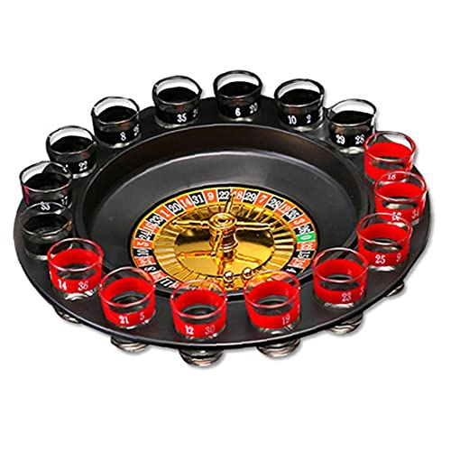 OMMO LEBEINDR Ruleta para Beber, Juegos De Beber Juegos De Fiesta para Adultos Partes Shot Roulette Spinning Beber Juego Juego