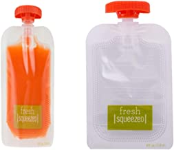 Fresh Food Storage Packing Baby Infant Feeding Juice Pounch Plastic Homemade Juice Carrier 50 Estimated Price : £ 36,40