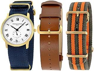 Frederique Constant Slimline Gold Men's Watch FC235M4S5GRYOR + 2 Extra Strap