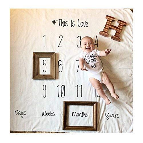 Amorar Neugeborenes Fotografie Wrap, DIY Neugeborenes Fotografie Foto Requisiten Wrap monatliche Meilenstein Decke Foto Hintergrund, Baby Fotoshooting Accessoires,EINWEG Verpackung