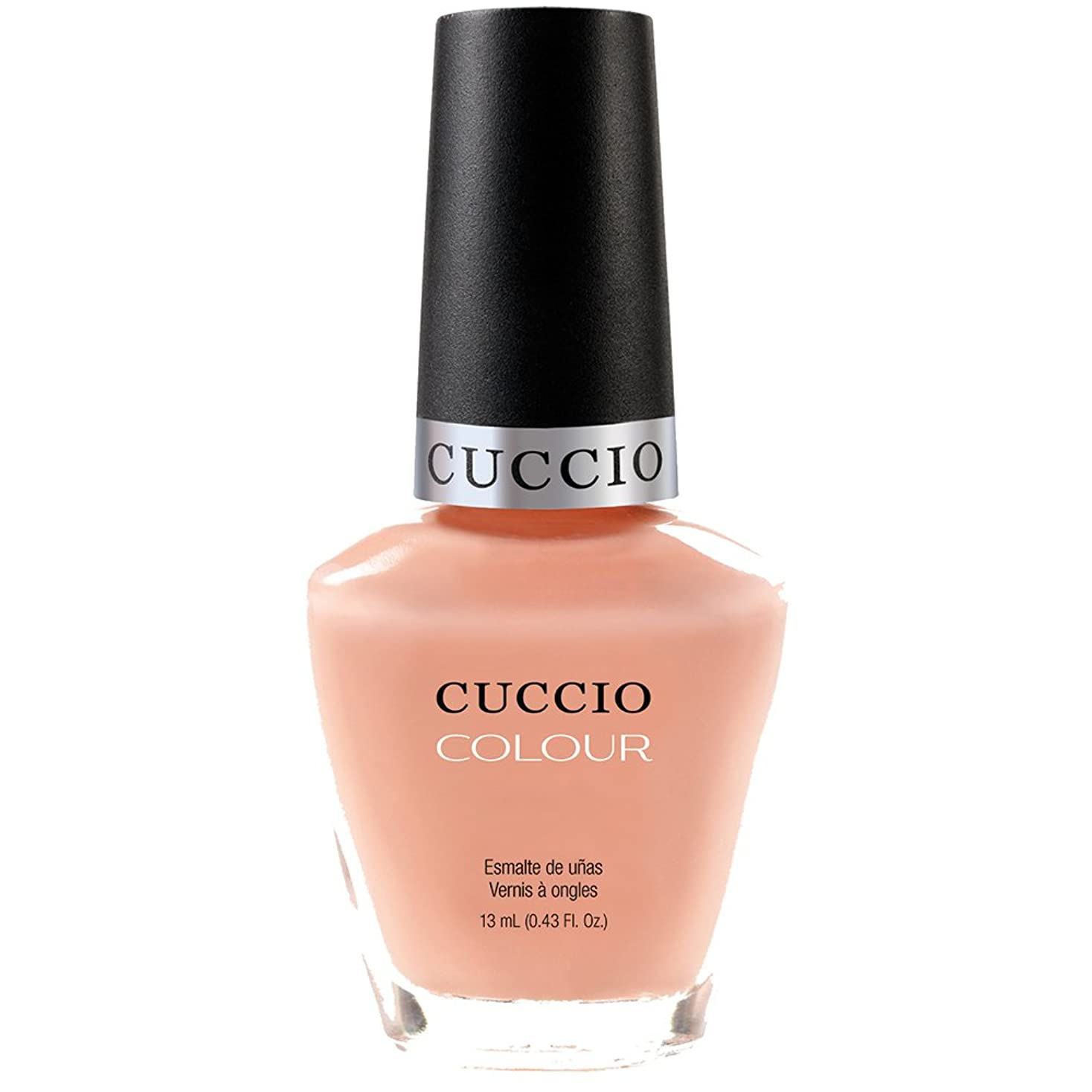 案件立法石膏Cuccio Colour Gloss Lacquer - Life's A Peach - 0.43oz / 13ml