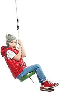 SUMMERSDREAM Disk Seat Swing Daisy Disc Monkey Swing Rope Tree Swing (Green)