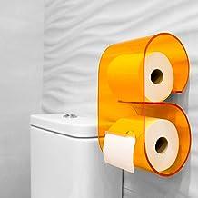 Toiletpapierhouder van plexiglas in origineel design en eenvoudige installatie. Badkamerwandrolhouder voor de badkamer. To...