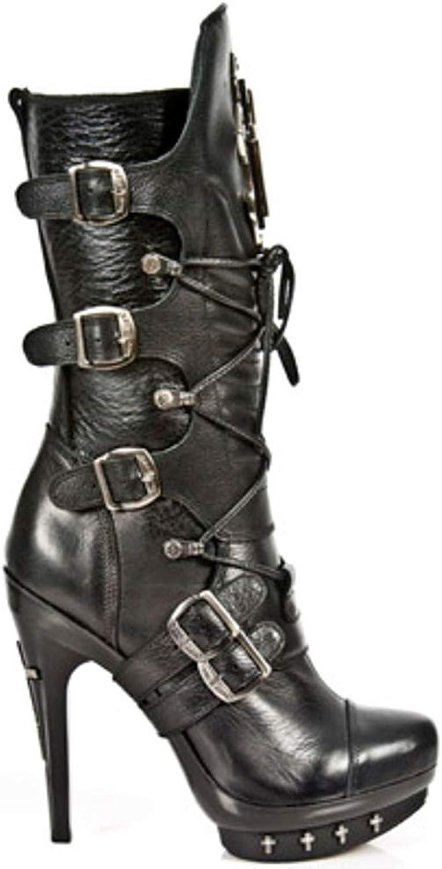 New Rock NR M.PUNK061 S1 Black - Boots, Punk, Women
