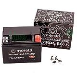 Original Moretti Gel Batterie YTX4L-BS / MTX4L-BS Rollerbatterie absolut wartungsfrei Motorrad