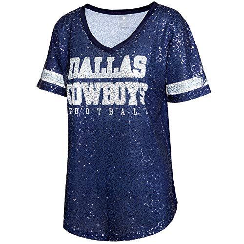 NFL Dallas Cowboys Womens Ensley Fashion Jersey, Navy, X-Large