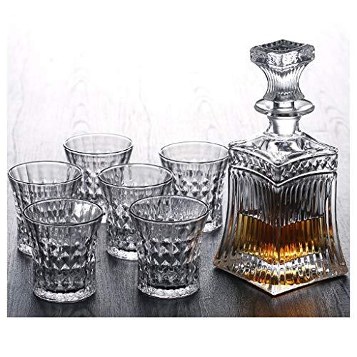 LSRRYD whiskyset Dedalo van glas 5-delig inhoud karaf 709 ml inhoud glazen 220 ml Stijlvol whiskygenot van de hoogste kwaliteit D
