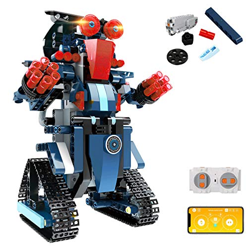 STEMBuilding Block ToyRC Robotfor Kids,aukfaApp Controlled &Remote Control Robotic Toyfor Boys and Girls,Engineering Educational Build Kit,Early Learning Birthday Gift for 8 Years and Up