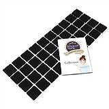 Adsamm® | 40 x almohadillas de fieltro | 25x25 mm | negro | cuadrado | Protectores de suelo para patas de mueble | auto-adhesivos | con grosor de 3,5 mm de la máxima calidad