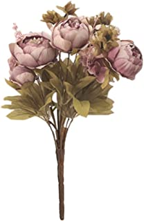 Dolloress Artificial Fake Silk Peony Flowers Blossom Floral Plants Home Decor Perfect for Home Kitchen Office Students Sch...