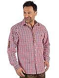 OS Berni - Camisa para Traje Regional a Cuadros, Color Rojo Rojo XS