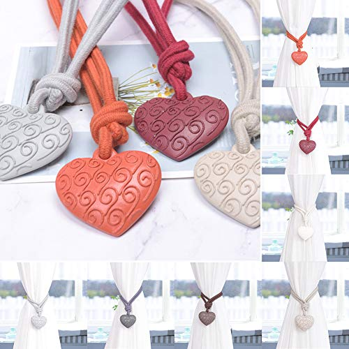 Lai-LYQ Gordijnhouder, verwarmend cloud-design, gordijngesp, slot, liefde, harthouder, accessoires Orangenone