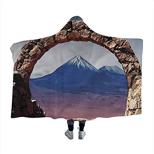 Vulkaan Draagbaar Deken Zuid-Amerikaanse woestijn Arch Mantel Deken voor Slaap Nap 50