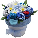 Nikki's Deluxe New Baby Blossom Clothing Bouquet (Blue)