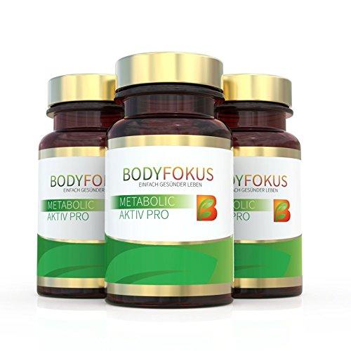 BodyFokus Metabolic Aktiv Pro: Energiestoffwechsel - 3 Dosen
