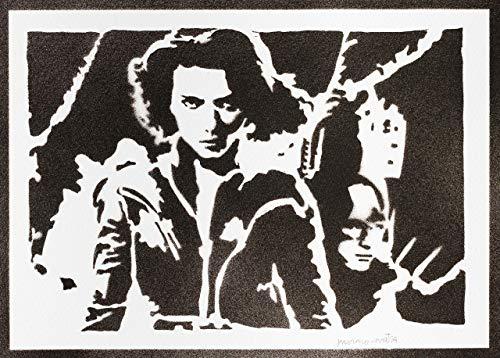 Póster Viuda Negra Los Vengadores Grafiti Hecho a Mano - Handmade Street Art - Artwork