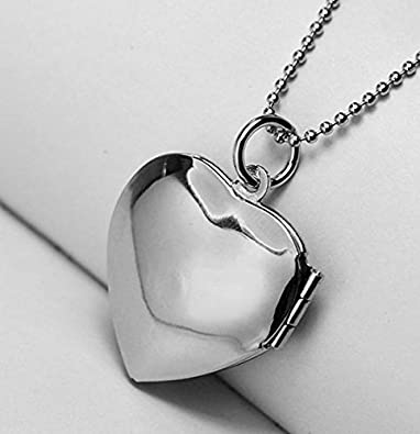 Latigerf I Used to be her Angel Now Shes Mine Heart Locket Necklace Engraved Pendant Hold Photo