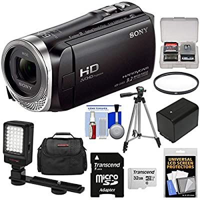 Sony Handycam HDR-CX455 8GB Wi-Fi HD Video Camera Camcorder with 32GB Card + Battery + Case + Tripod + LED Light + Filter + Kit from Sony