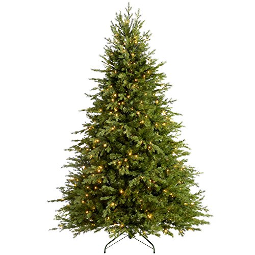 WeRChristmas Pre-Lit Grand Alaskan Fir Multi-Function Christmas Tree with 500-LED Lights - 7 feet/2.1 m, Green