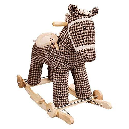 XWX Caballo De Madera para Niños Rocking Horse Juguete Doble Música Música Sólido Madera Sólida Un Año Viejo Regalo Rocking Horse