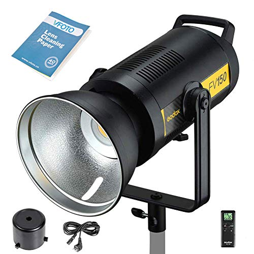 Godox FV150 150 W LED-Blitzlampe, 1/8000 HSS Studio-Stroboskop mit LED Video Beleuchtung, 2,4 G X Wireless für Canon Nikon Sony Fuji Olympus Panasonic Kamera (FV150)