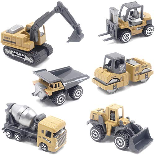 IROCH Zinc Alloy Construction Cars,Toy Cars,Vehicles Kids, Play Vehicles Die Cast Metal Toy Inertial