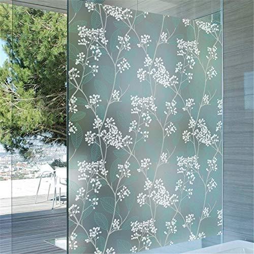 TRJGDCP Ondoorzichtig Zelfklevende Frosted Privacy Glas Venster Film Decoratieve Window Stickers Plakken Groen Slaapkamer raamfolie