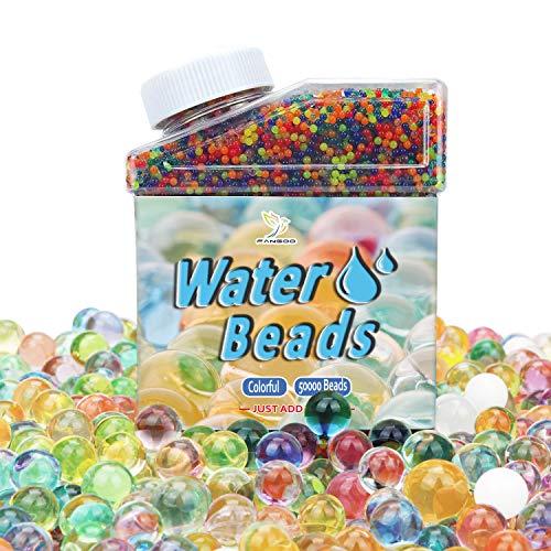 Wasserperlen 50,000 pcs Riesige Jelly Wasser Perlen Regenbogen farbige Mischung für Hochzeit und Wohndekoration, Pflanzen Vase Füller