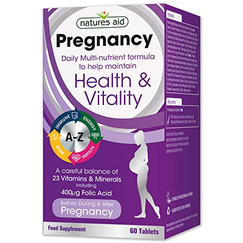 Natures Aid Pregnancy Multi-Vitamins and Minerals Tablets (23 Essential...