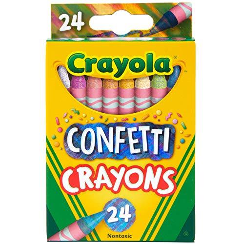 Giz de cera Crayola Confetti, giz de cera multicolorido, materiais de colorir para crianças, 24 unidades