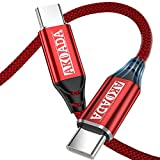 USB C to USB C Cable 2-Pack(10ft+6.6ft),AkoaDa USB Type C Fast Charger Cable Nylon Braided Cord Compatible with Samsung Galaxy S20 S20+ S20 Ultra Note 20,Pixel 4 2 3 3a XL,Nexus,iPad pro(Red)