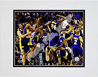 Photo File Los Angeles Lakers 2009 NBA Finals Champions Celebration Matted Photo