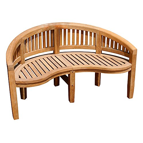 achla outdoor benches Achla Designs Monet Bench OFB-09, Natural Wood