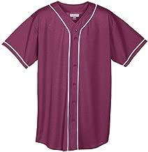 Augusta Sportswear Augusta Wicking Mesh Button Front Jersey with Braid Trim