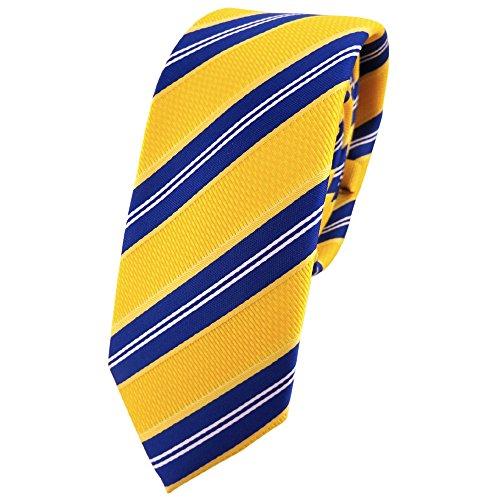 TigerTie - corbata estrecha - amarillo-naranja azul blanco rayas - Tie