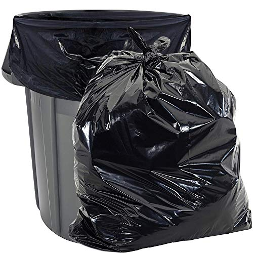 Heavy Duty 55 Gallon Trash Bags - (Value 50 Pack) - 1.5 MIL Industrial Strength Plastic 35' x 55' for 50-55 Gal Cans -Fits Toter, Rubbermaid Brute, Carlislie Bronco etc.