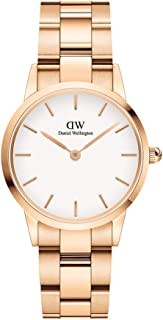Daniel Wellington Japanese Quartz Watch with Stainless Steel Strap, Rose Gold, 14 (Model: DW00100213)