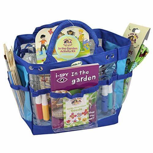 Little Pals In the Garden Activity Kit including Build and Paint Your Own Bird House, Grow Your Own Jack's Beanstalk Seeds, Garden Kit, Children's Garden Gloves and Garden Spotter Book
