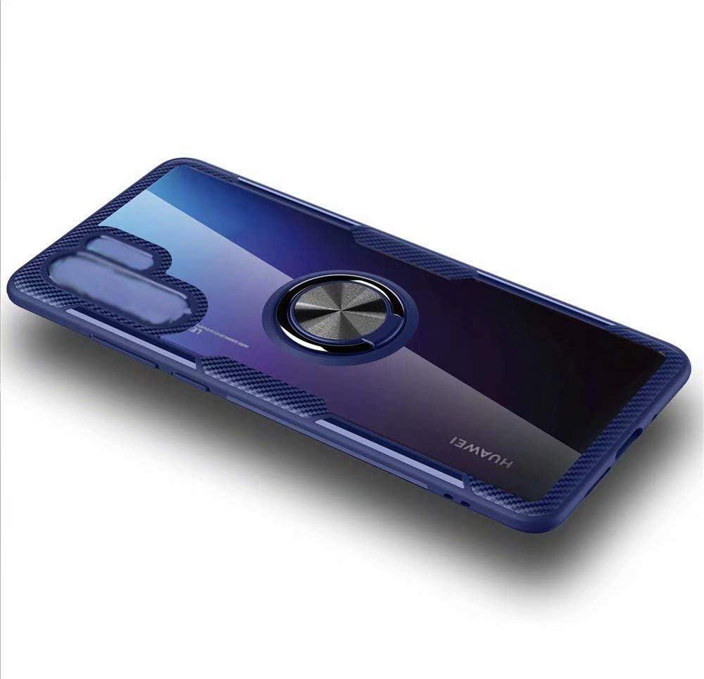 جراب Minwu لهاتف Huawei P Smart S، جراب من البولي يوريثان اللدن بالحرارة مضاد للصدمات وفائق النحافة ومضاد للخدوش مع غطاء خلفي قابل للدوران بمقدار 360 درجة، غطاء لهاتف Huawei P Smart S-Blue داكن