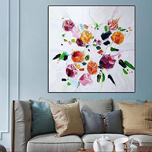 Abstraktes Drucken Leinwandmalerei Aquarellmalereiplakat und Ölgemälde Wohnzimmerwandbilddekoration rahmenlose Malerei30x30cm Unframe